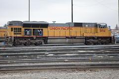UP 8194 SD9043AC (knelson27) Tags: train pacific union trains locomotive bnsf c45 p42 c44 mp15