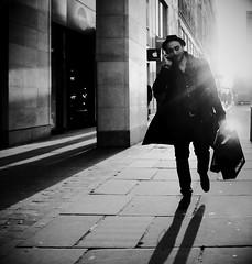 Daydreaming (Ian Brumpton) Tags: street uk england urban blackandwhite bw london blancoynegro luz monochrome blackwhite noiretblanc unitedkingdom candid streetphotography chapeau londres contrejour biancoenero daydreaming intothesun streetphotographer lustforlife urbanblackandwhite londonstreetphotography scattidistrada aimlessstrolling imjustamodernguy