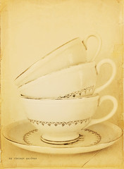 grandma's teacups (myvintagegardens) Tags: old texture vintage antique cups dishes 952 52weeksofgratitude