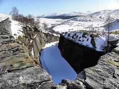 Loch Quoich hydrodam overspill