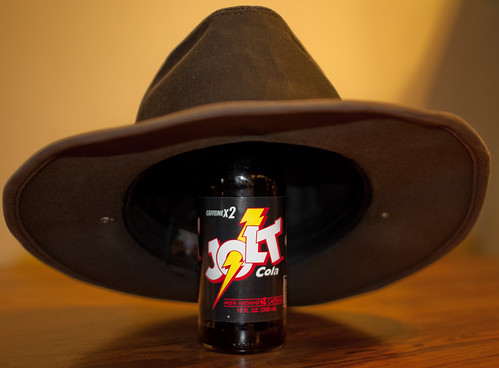 food brown silly glass hat canon table eos bottle all cola drink flash pop canvas jolt soda caffeine lightroom 500d f20 sigma30mmf14exdchsm 5346 fgr henschelhat t1i henschel5346