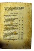 Table of contents from Cornazzano, Antonio: La vita di Cristo