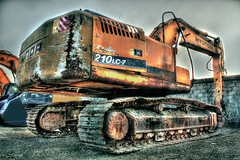 Rusty Dozer (F.FaISaL) Tags: orange metal by truck canon lens rust rusty dozer 1855 hdr ksa kfupm photomatix 450d fai9a3 ffaisal