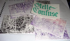 pacco per stelleconfuse (mr GREN) Tags: ink print diy handmade brain stamp calligraphy calligrafia misterg xilografia xilography useyourhead stelleconfuse silografia