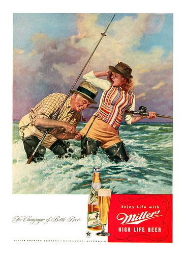 Beer In Ads 97 Miller High Life Goes Fishing Brookston