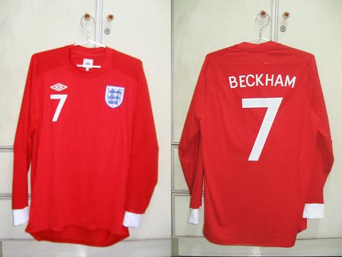 England 2010-2012 Away L/S (BECKHAM)