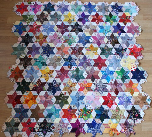unfinished charmquilt