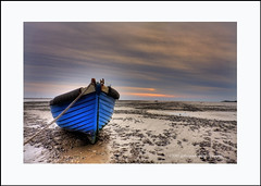 and a blue one! (gobayode photography...times) Tags: boat lancashire lytham fishingboat drydock lythamstannes blackpool tideout westbeach blueboat drywell sunsetcolours iloveboats boatonbeach seasidecolours thewellrandry boatattwilight seafronttwilight
