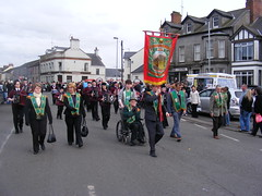 AOH Division 442 Dungiven - Members, Banner and Band at the St. Patricks Day Parade in Kilrea County Derry Ireland (seanfderry-studenna) Tags: ireland irish men green saint st religious march ancient women day catholic order erin candid board patrick flags eire parade na bands marching procession patricks banners nationalist northern ord 17th arsa 2010 ulster aoh hibernians eireann divisions heireann collarettes