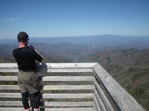 Missionary on overlook tower