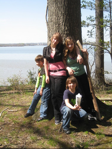 4/1/10 - Mason Neck Park - My kids.