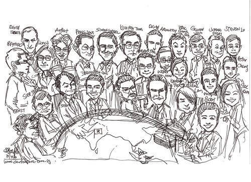 Group caricatures for Morgan Stanley APB F&N Heneiken - draft 1
