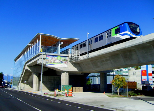 Aberdeen Skytrain Station der Canada Line in Richmond, BC