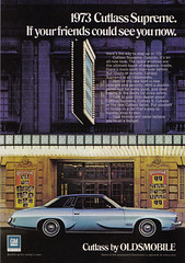 Vintage Ad #1,084: Day by Day in a '73 Cutlass Supreme (jbcurio) Tags: toronto theatre automobiles oldsmobile generalmotors vintagead royalalexandratheatre cutlasssupreme