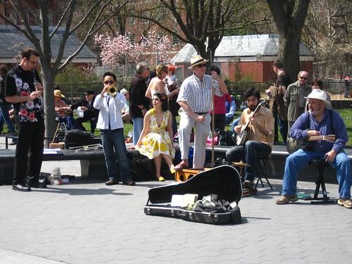 Street Buskers at Washington Square Park