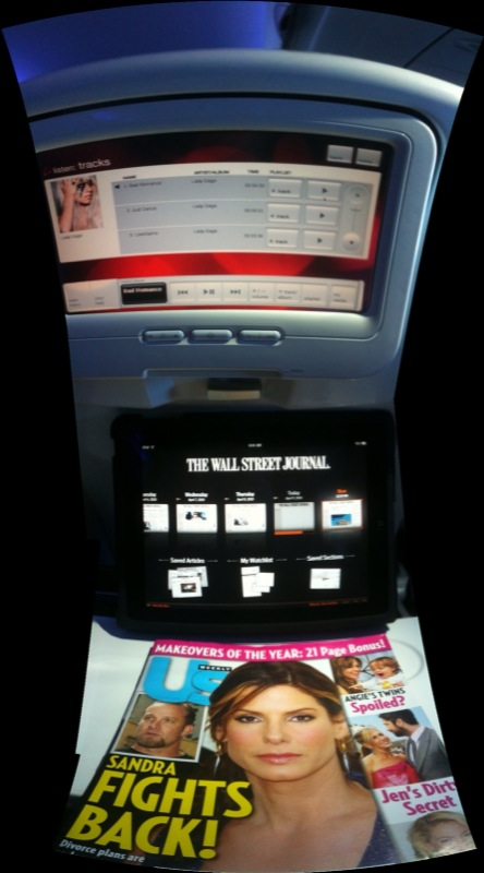 Virgin America: Lady Gaga, WSJ on iPad, and Sandra Bullock