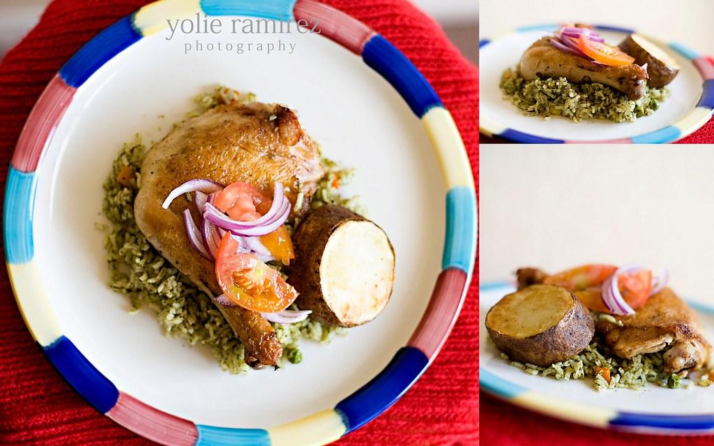 Peruvian - Arroz verde con pollo