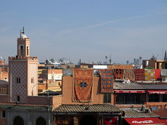 View from Cafe Glacier (wEnDaLicious) Tags: rooftops morocco marrakesh djemaaelfna cafeglacier