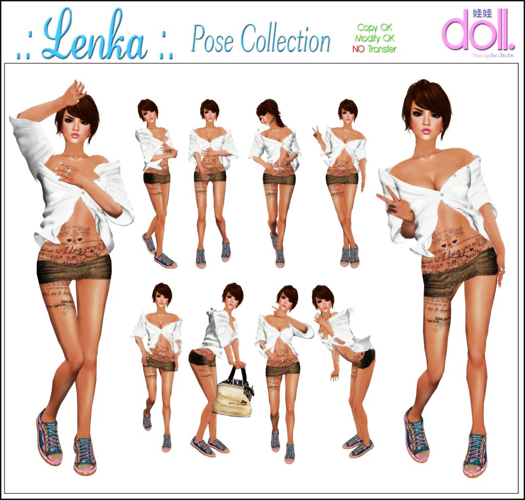 [doll.]™ Lenka Pose Collection