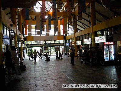 Shopping area at the ferry terminal
