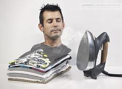 Les bons sentiments (Explored #2 / 2011-06-16) (LEVARWEST) Tags: me myself autoportrait moi teeshirt ironing pressing fumée lafraise ferarepasser levarwest