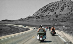 Aug 4 2015 - Passing Bear Butte on the way to The Spoke (La_Z_Photog) Tags: lazy photog elliott photography sturgis south dakota black hills motorcycle classic rally races harley davidson party riding bikers babes beer 080415sturgiscucacamera