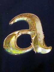 Lower-case Letter a (Bethesda, MD) (takomabibelot) Tags: geotagged maryland letter peelingpaint bethesda aa oneletter minuscule geo:lat=3898882400 geo:lon=7710130200 suburbanflorist