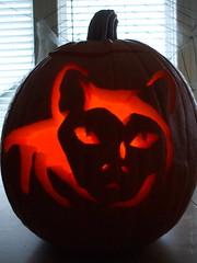 lit pumpkins - 6