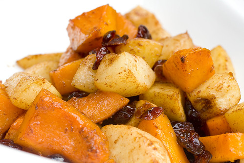 Roasted Butternut Squash, Pears, and Cranberries 5