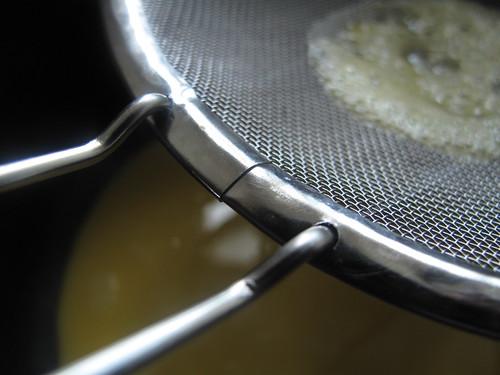 Strained egg mix