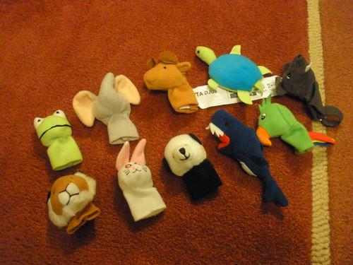 IKEA finger puppets!