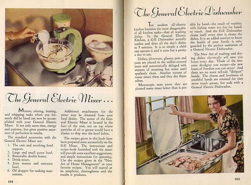 The New Art cookbook, 1934: Mixer and dishwasher