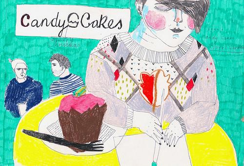Bonita in candy cakes