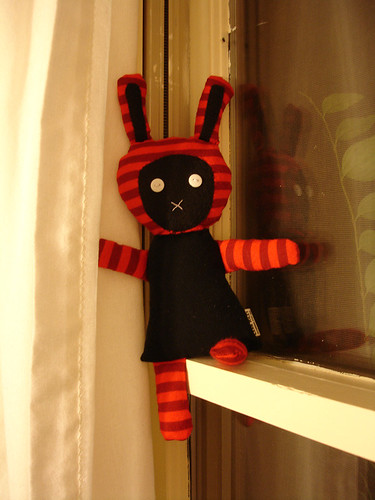 A Plush a Day Challenge: Day 5 - Goth Bunny