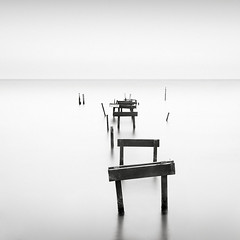 Just lines VII (p i c a) Tags: longexposure sea seascape beach water skne seaside sweden jetty vatten hav brygga resund bjrred ndfilter bwnd110