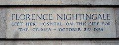 Photo of Florence Nightingale stone plaque