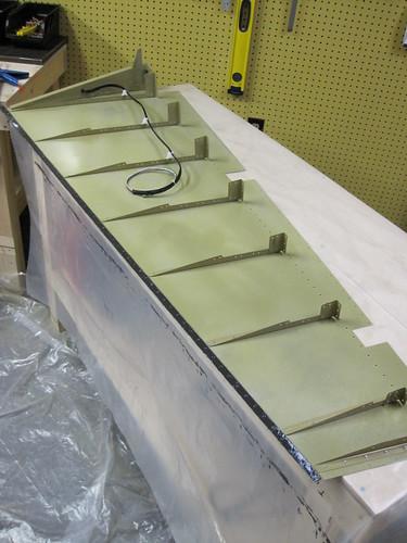 Rudder Trailing Edge Sealant Applied