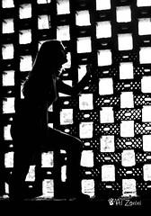 In gabbia (AL Zanini ) Tags: girl silhouette ombra cage luce ragazza gabbia contrasto alzanini