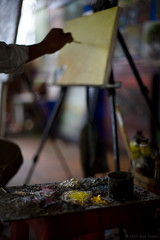 The Painting (Alex Stoen) Tags: art colors composition work canon painting geotagged creativity interesting paint artist bokeh paintings creative depthoffield vietnam painter mekongdelta everydaylife mekong pintura artista indochine indochina mekongriver ef50f14 pinture caibe paintre 5dmk2 canon5dmarkii alexstoen alexstoenphotography geo:lat=10337954 geo:lon=106037797