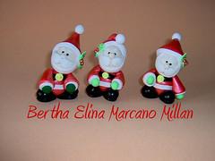 Mini Santas (Bertha Elina Marcano) Tags: en navidad pasta masa francesa flexible fria porcelana porcelanicron felxible