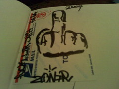ZONAR-F**K U 2 (frank_760) Tags: graffiti sticker mail tag slap graff zonar