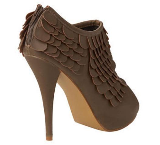 DIT idea leather scale heels 3