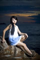 Portraiture | Affy Jackelyinda (esharkj) Tags: sunset beach beauty fashion canon eos rebel nikon photoshoot vogue portraiture modelling sabah tanjungaru sumandak sabahan undukngadau 450d eshark affyjackelyinda