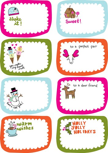 holiday labels by Amy Cluck