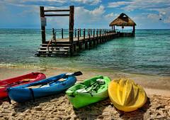 Sea Kayaks at the Pier (Jeff Clow) Tags: travel vacation holiday tourism beach mexico island pier cozumel kayaks jeffrclow