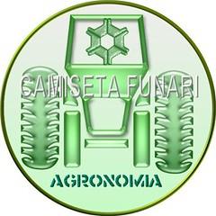 logo simbolo agronomia redondo trator metalizado