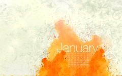 January 2010 Calendar (kriegs) Tags: desktop wallpaper abstract art calendar widescreen digitalart january helvetica desktopwallpaper 1920x1200 iphonewallpaper