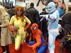 Amazing Friends (amber-the-stylist) Tags: comics jones costume women cosplay spiderman xmen superhero marvel comiccon angelica mutants firestar javits nycc amazingfriends misslion mslion