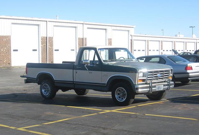 2 two ford truck nc north pickup f150 carolina 1986 1980 tone