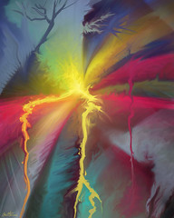 Pure Abstract (Ben Heine) Tags: pink blue light sun abstract detail art texture colors strange beauty yellow digital photoshop painting star milk mix rainbow movement energy glow power geometry couleurs contemporaryart modernart aquarelle centre explosion creative shapes peinture odd creation lumiere simplicity abstraction intuitive minimalism fusion sunrays simple atomic pure meaningless blast minimalist dynamism mlange numerique brushstrokes blend arcenciel kleuren cs4 abstracted aplats fission smudgetool formes nergie benheine infotheartisterycom acrylicsimulation coupdepinceau